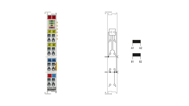 EL2535-0103   2-channel pulse width current terminals 48 V DC, 3.5A