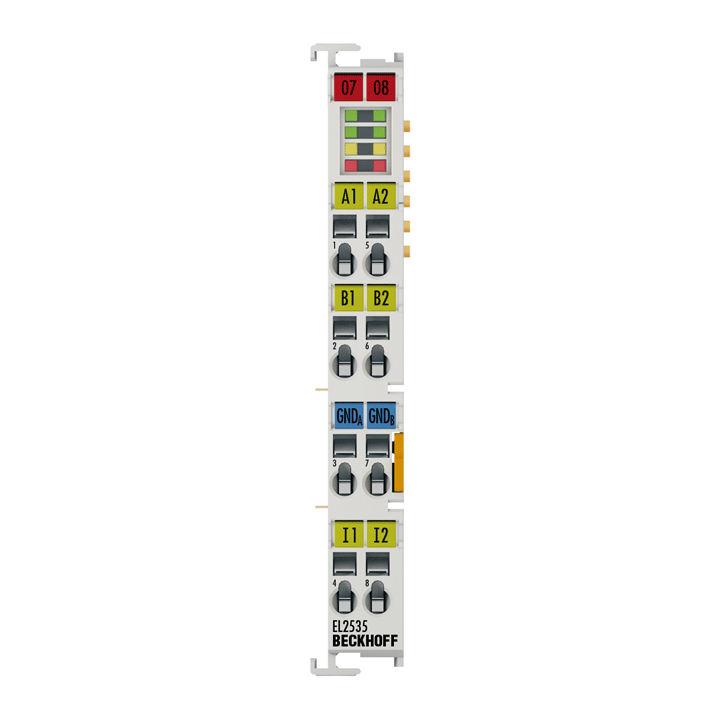 EL2535-0002 | EtherCAT Terminal, 2-channel PWM output, 24VDC, 2A, current-controlled