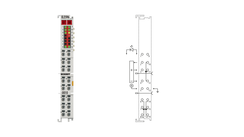 EL2596-0010   1-channel LED strobe control terminals
