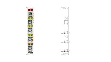 EL2602-0010 | 2-channel relay output terminal 230VAC, 5A, make contacts, contact-protecting switching of LED lamps