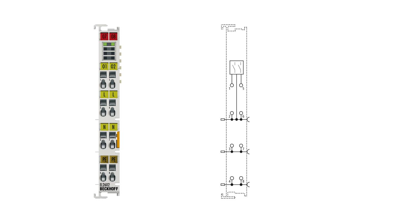 EL2602   EtherCAT Terminal, 2-channel relay output, 230VAC, 30VDC, 5A