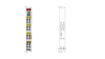 EL2622-0010 | 2-Kanal-Relais-Ausgangsklemme 230VAC, 5A, Schließer, ohne Powerkontakte, kontaktschonendes Schalten von LED-Lampen