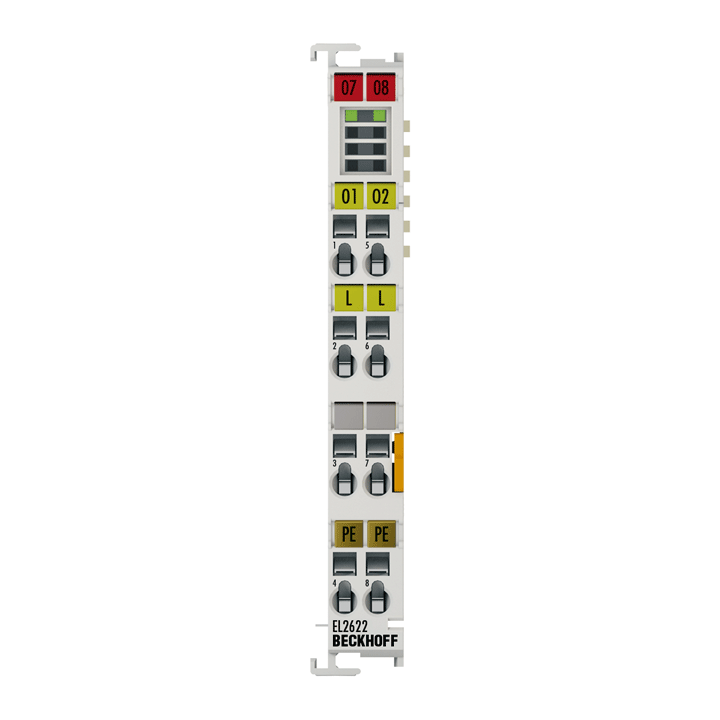 EL2622 | 2-channel relay output terminal 230VAC, 5A, potential-free make contacts, no power contacts