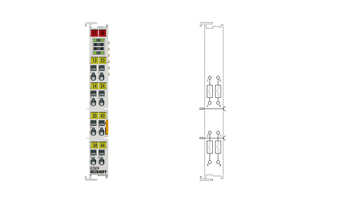 EL2624 | EtherCAT Terminal, 4-channel relay output, 125VAC, 30VDC, 0.5AAC, 2ADC