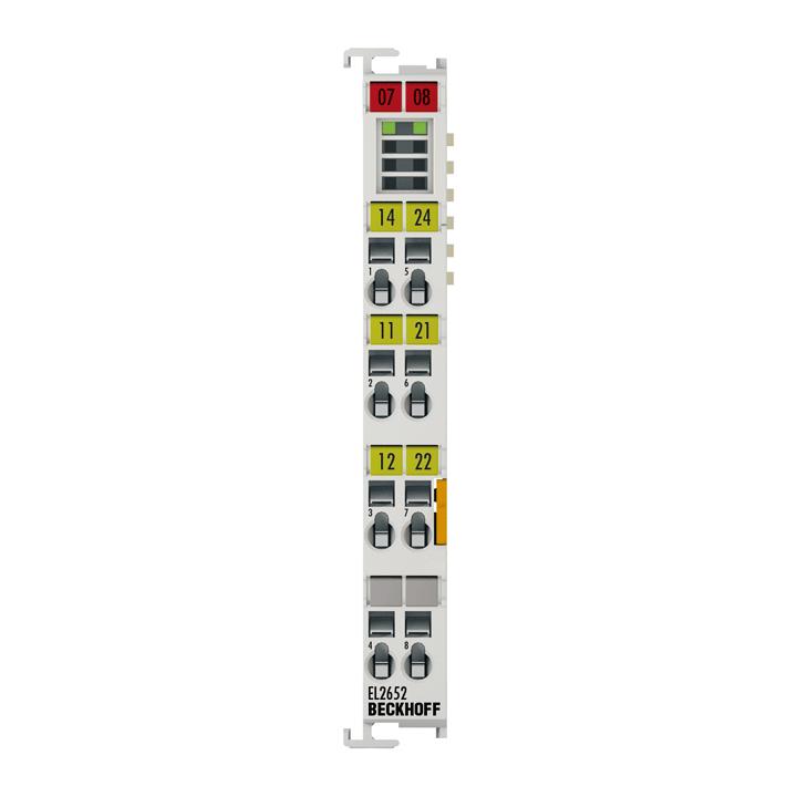 EL2652 | EtherCAT Terminal, 2-channel relay output, 230VAC, 300VDC, 1A