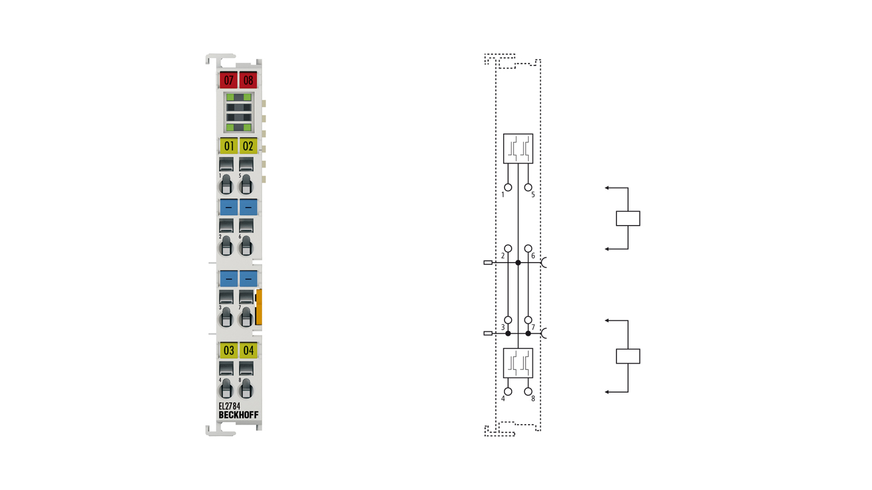 EL2784   4-Kanal-Digital-Ausgangsklemme 30VAC/DC, 2A, Solid-State