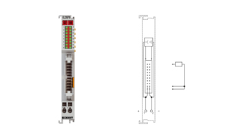 EL2878-0005 | EtherCAT Terminal, 8-channel digital output, 24VDC, 0.5A, flat-ribbon cable, with diagnostics