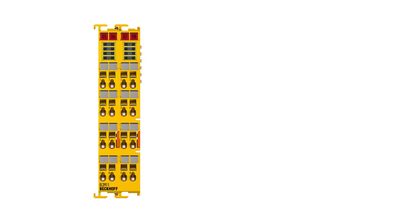 EL2911 | Potential supply terminal, TwinSAFE, 24VDC, 10A, 4 safe inputs, 1 safe output, TwinSAFE Logic