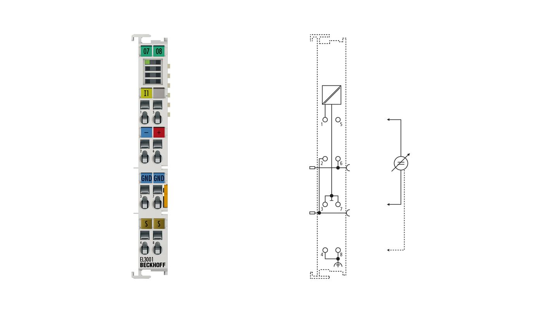 EL3001 | 1-channel analog input terminal -10…+10V, single-ended, 12bit