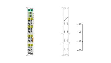 EL3008 | 8-channel analog input terminal -10…+10V, single-ended, 12bit