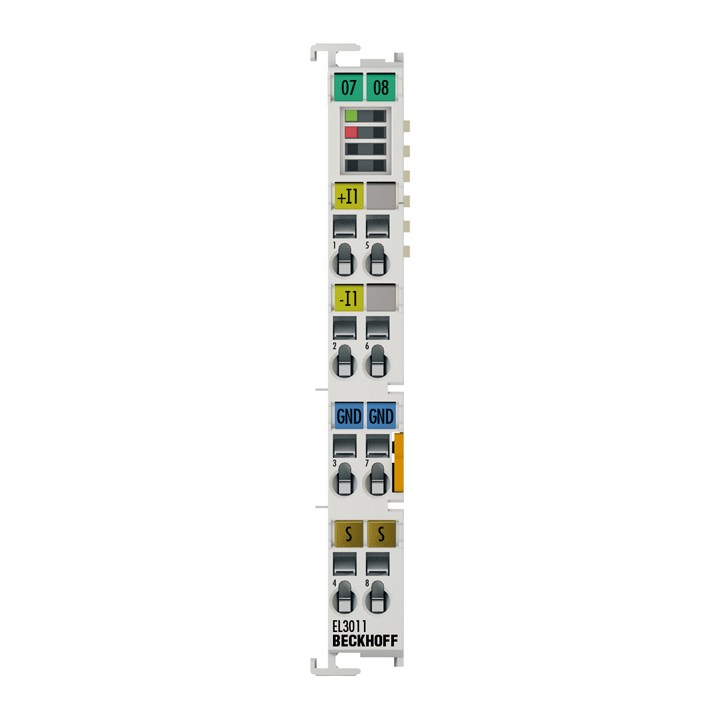 EL3011 | 1-channel analog input terminals 0…20mA, differential input, 12bit
