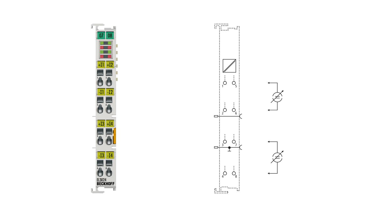 EL3024 | 4-channel analog input terminal 4…20mA, differential input, 12bit