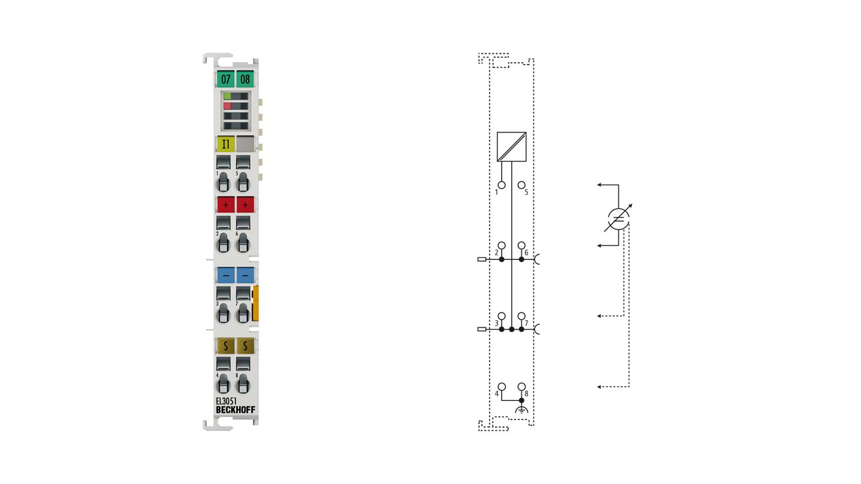 EL3051 | 1-Kanal-Analog-Eingangsklemme 4…20mA, single-ended, 12Bit