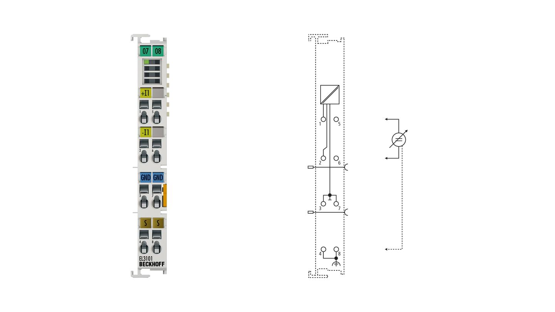 EL3101 | 1-channel analog input terminal -10…+10V, differential input, 16bit
