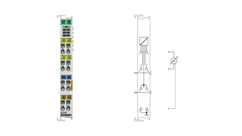 EL3102 | 2-Kanal-Analog-Eingangsklemme -10…+10V, Differenzeingang, 16Bit