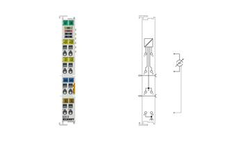 EL3112   2-channel analog input terminals 0…20mA, differential input, 16bit