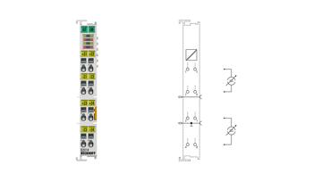 EL3114 | 4-channel analog input terminals 0…20mA, differential input, 16bit