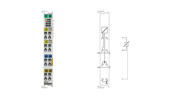 EL3121 | EtherCAT Terminal, 1-channel analog input, current, 4…20mA, 16bit, differential