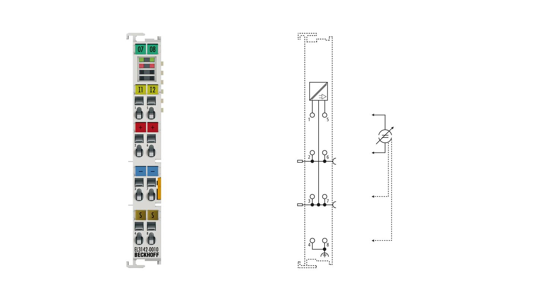 EL3142-0010   2-Kanal-Analog-Eingangsklemme ±10mA, single-ended, 16Bit