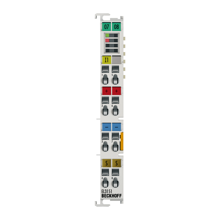 EL3151 | EtherCAT Terminal, 1-channel analog input, current, 4…20mA, 16bit, single-ended