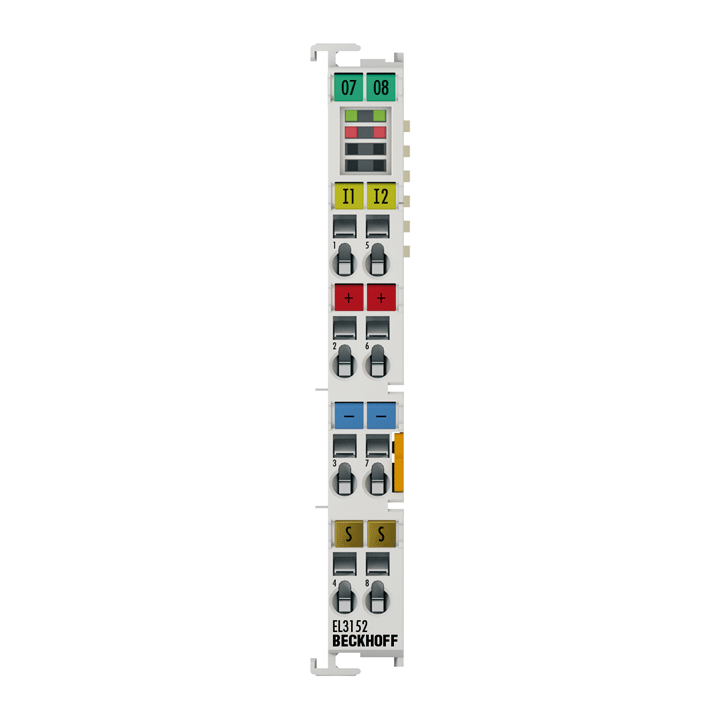 EL3152 | EtherCAT Terminal, 2-channel analog input, current, 4…20mA, 16bit, single-ended
