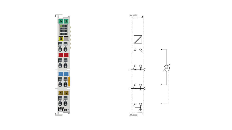 EL3161 | 1-Kanal-Analog-Eingangsklemme 0…10V, single-ended, 16Bit