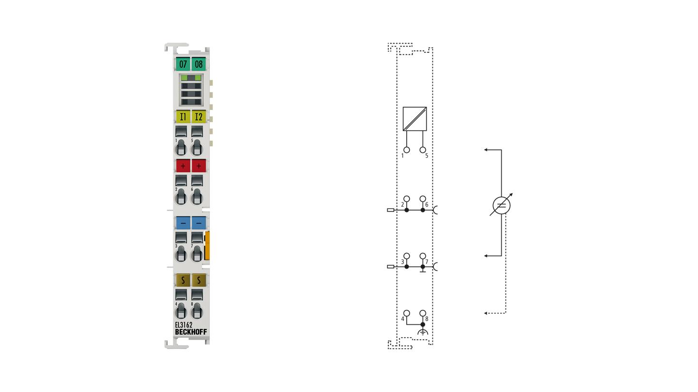 EL3162 | EtherCAT Terminal, 2-channel analog input, voltage, 0…10V, 16bit, single-ended