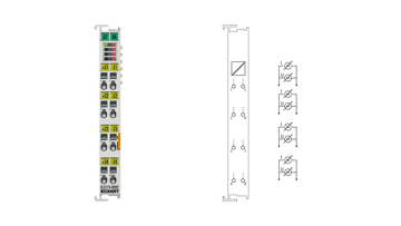EL3174-0002 | 4-channel analog input, -10/0…+10V, -20/0/+4…+20mA, electrically isolated, 16bit