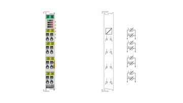 EL3174-0032 | 4-Kanal-Analog-Eingangsklemme, -3…+3V, -20/0/+4…+20mA, galvanisch getrennt, 16Bit
