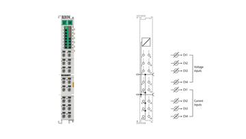 EL3174-0030 | EtherCAT-Klemme, 4-Kanal-Analog-Eingang, -10/0…+10V, -20/0/+4…+20mA, 16Bit, mit externem Kalibrierzertifikat