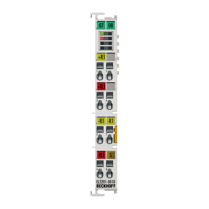 EL3201-0010 | 1-channel input terminals Pt100 (RTD) for 4-wire connection, high-precision