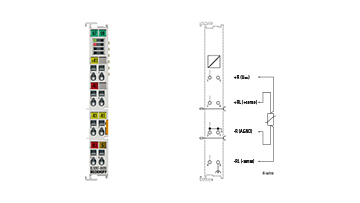 EL3201-0020 | EtherCAT Terminal, 1-channel analog input, temperature, RTD (Pt100), 16bit, high-precision, factory calibrated