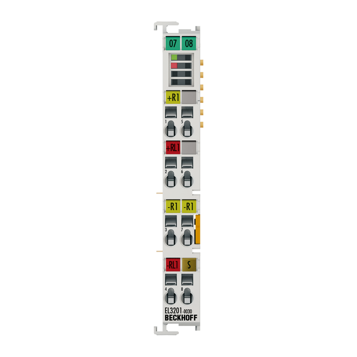EL3201-0030 | 1-channel input terminals Pt100 (RTD) for 4-wire connection, high-precision, with external calibration certificate