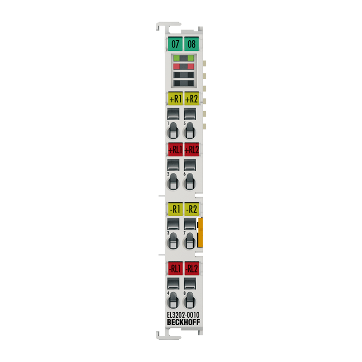 EL3202-0010 | 2-channel input terminals Pt100 (RTD) for 4-wire connection, high-precision