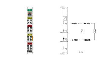 EL3202-0010 | EtherCAT Terminal, 2-channel analog input, temperature, RTD (Pt100), 16bit, high-precision