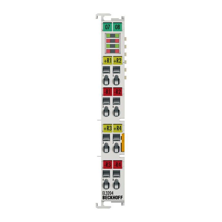 EL3204 | EtherCAT Terminal, 4-channel analog input, temperature, RTD (Pt100), 16bit