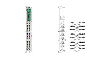 EL3208   EtherCAT Terminal, 8-channel analog input, temperature, RTD (Pt100), 16bit