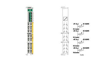 EL3214-0090 | TwinSAFE SC: 4-channel input terminal Pt100 (RTD) for 3-wire connection
