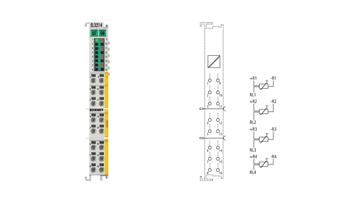 EL3214-0090 | TwinSAFE SC: 4-Kanal-Eingangsklemme Pt100 (RTD) für 3-Leiteranschluss