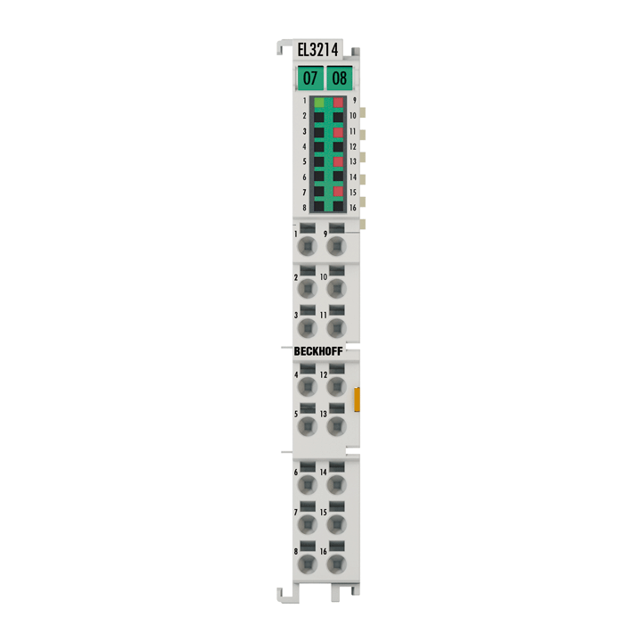 EL3214 | 4-channel input terminal Pt100 (RTD) for 3-wire connection