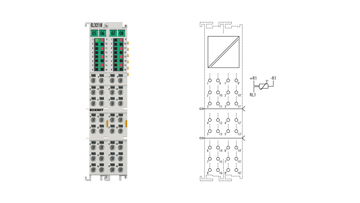 EL3218 | 8-channel input terminal Pt100 (RTD) for 3-wire connection
