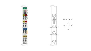 EL3312 | EtherCAT Terminal, 2-channel analog input, temperature, thermocouple, 16bit