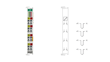 EL3314-0010 | 4-Kanal-Eingangsklemme, Thermoelement, hochpräzise, mit Drahtbrucherkennung
