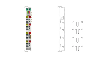 EL3314-0020 | 4-channel thermocouple input terminal, high-precision, with open-circuit recognition, with calibration certificate