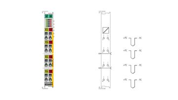 EL3314-0090 | EtherCAT Terminal, 4-channel analog input, temperature, thermocouple, 16bit, TwinSAFESC