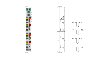 EL3314 | EtherCAT Terminal, 4-channel analog input, temperature, thermocouple, 16bit