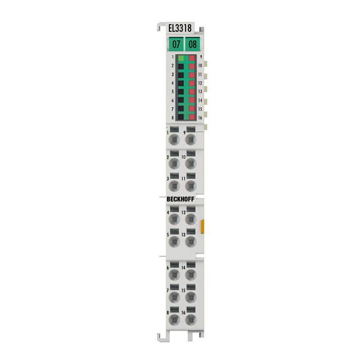 EL3318 | HD EtherCAT Terminal, 8-channel thermocouple input with open-circuit recognition