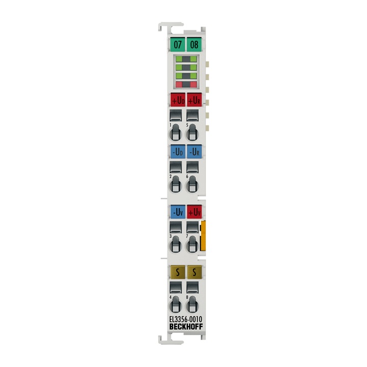 EL3356-0010 | EtherCAT Terminal, 1-channel analog input, measuring bridge, fullbridge, 24bit, high-precision