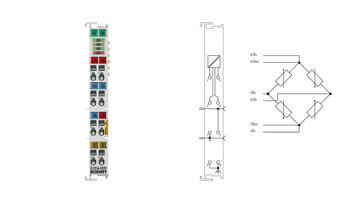 EL3356-0020 | 1-channel precise load cell analysis (resistor bridge), 24bit, with calibration certificate