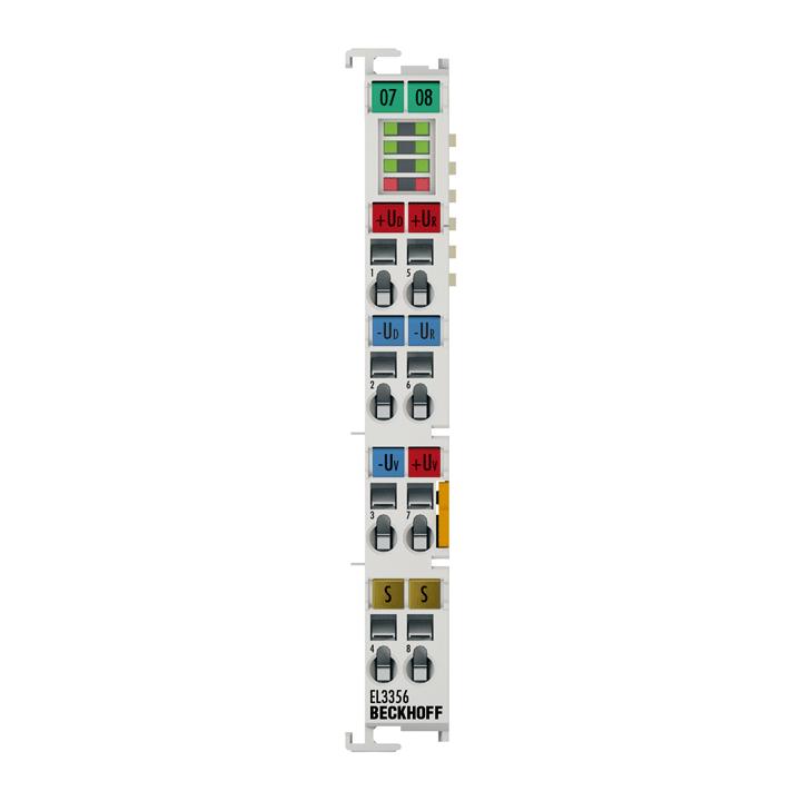 EL3356 | EtherCAT Terminal, 1-channel analog input, measuring bridge, fullbridge, 16bit